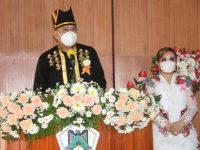 Eman Hadiri Rapat Paripurna Hut ke-18 Kota Tomohon
