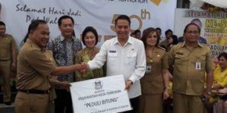 Peduli Bencana, Pemkot Tomohon Salurkan Bantuan ke Korban Bencana Bitung