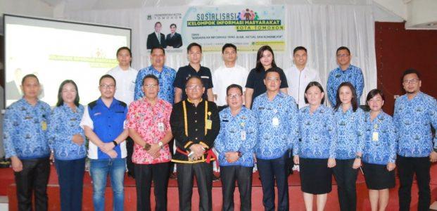 Wakili Wali Kota, Lolowang Hadiri Sosialisasi KIM
