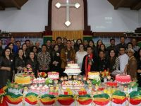 Eman Sosialisasikan Program Pemkot di HUT ke-71 GMIM Baitlahim Talete