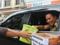 Peduli Bencana Tomohon, JIT, CV Anugerah Mulia dan Sat Lantas Polres Tomohon Lakukan Penggalangan Dana