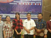 Perkuat Pengelolaan Media Center, Diskominfo Tomohon Ikut Bimtek di Mataram NTB