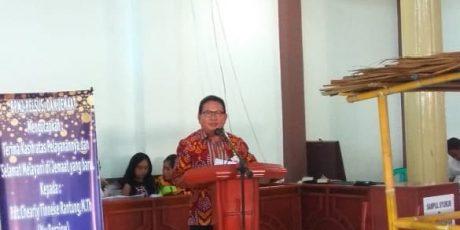 Wakili Wali Kota, Mentu Hadiri HUT ke-5 GMIM Kakas Eben Haezer