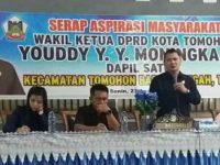 Reses Wakil Ketua DPRD Tomohon Youddy Moningka Dilaksanakan di Kelurahan Matani