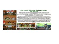 Advertorial Rapat Paripurna Dalam Rangka HUT Kota Tomohon ke-18