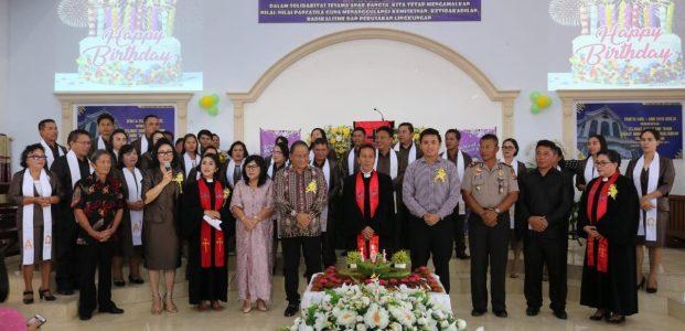 Lolowang Hadiri Ibadah Syukur Hut ke-161 GMIM Nafiri Pangolombian