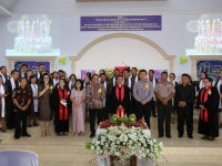 Christo Eman Hadiri Ibadah Syukur Hut ke-161 Jemaat Nafiri Pangolombian